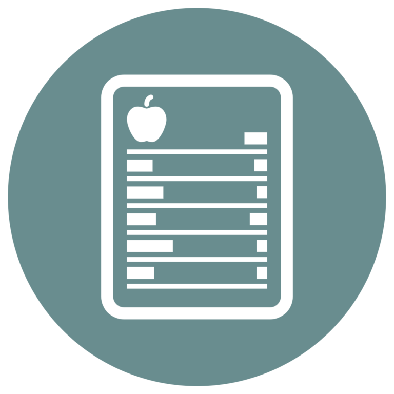food label nutrition fact table icon how to read