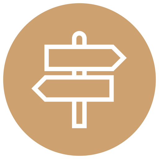 directional signs icon